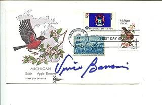 Vince Banonis Autographed Football - Detroit Mercy HOF FDC - NFL Cut Signatures