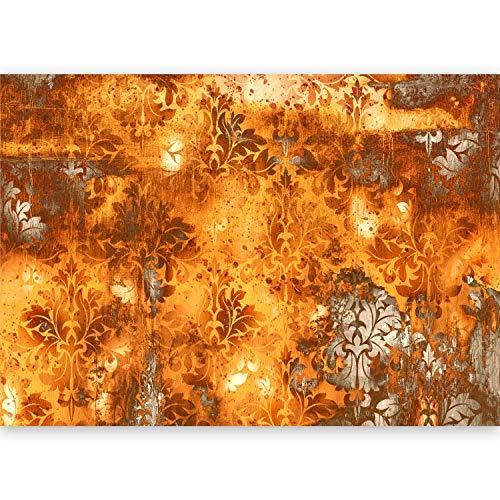 murando - XXL Fototapete Ornament orange 500x280 cm - Größe Format - Vlies Tapete - Moderne Wanddeko - Design Tapete - Wandtapete - Wand Dekoration - Blätter f-A-0465-a-b