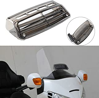 XMT-MOTO Motor Windscreen Air Flow Vent Smoked For Honda Goldwing GL1800 2004-2016