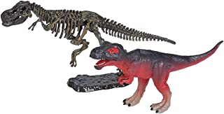 Wild Republic Replica DINO with SKELETON T-Rex, Toy Figures, Dinosaur figurines, Two Piece Set