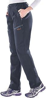 Nonwe Women's Snow Ski Pants Outdoor Warmth Water-Resistant Fleece Lined