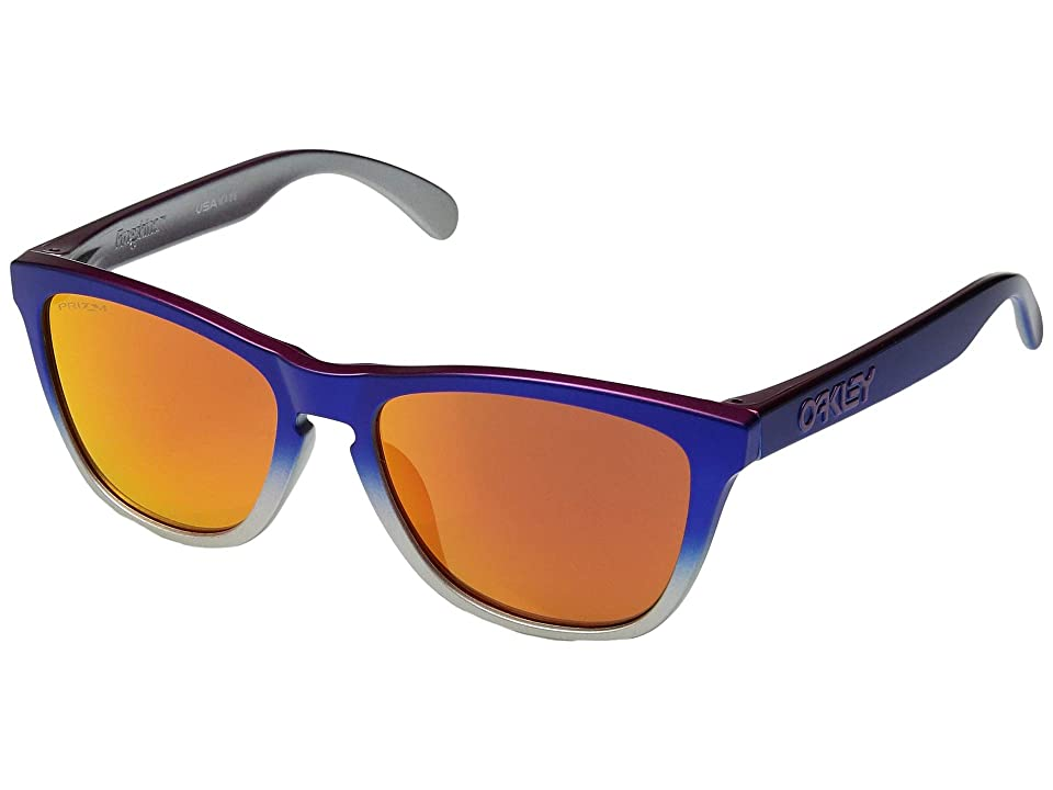 Oakley Frogskins (Pink Blue Fade Silver/Prizm Ruby) Sport Sunglasses