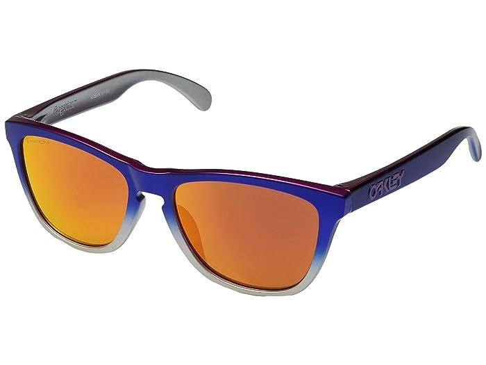 Oakley Frogskins (Pink Blue Fade Silver/Prizm Ruby) Sport Sunglasses