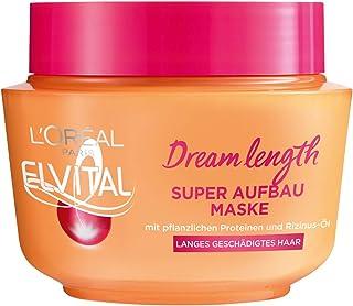 L'Oréal Paris Elvital Anti Spliss Haarmaske für langes, geschädigtes Haar, Intensive Haarkur zum Ausspülen, Mit pflanzlich...
