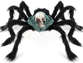 Coogam Halloween Giant Spider Decoration, Large Jumbo Horror Skeleton Spider Prank Prop Scarf Foam Props for Indoor Outdoo...