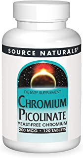 SOURCE NATURALS Chromium Picolinate 200 Mcg Tablet, 120 Count