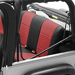 Coverking SPC203 Custom Fit Seat Cover for Jeep Wrangler JK 2-Door - (Neoprene, Black/Red)