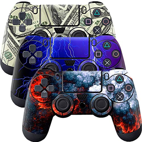 Skin for Ps4 Controller, 3pcs Whole Body Vinyl Decal Cover Sticker for Playstation 4 Controller (PS4 Controller #2)
