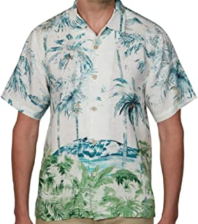 Tommy Bahama 色あせたオアシスリネンシャツ