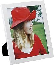 (20 سم × 25 سم، حافة بيضاء مسطحة) - إطار صورة مقاس 20 سم × 25 سم مصنوع من الخشب الصلب زجاج عالي الجودة لعرض سطح الطاولة وإ...