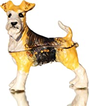 Waltz&F Schnauzer Trinket Box Bejeweled Hand-Painted Ring Holder Animal Figurine Collectible