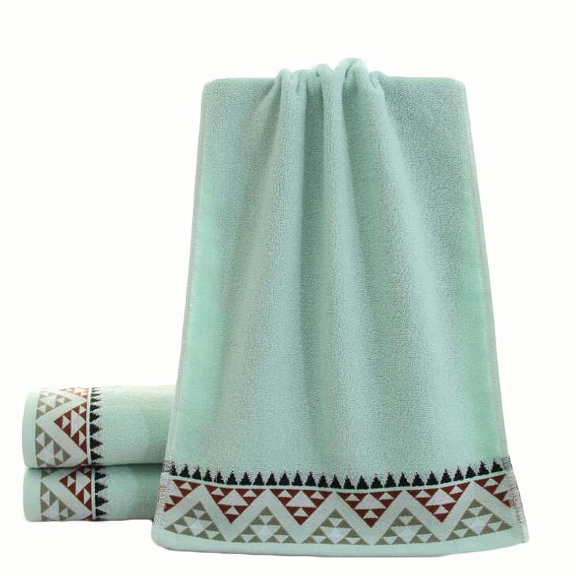 ロールマイルフリンジCXUNKK 2PCS / LOT家庭肥厚綿フェイスタオル大人カップル吸収性タオル (Color : Blue)