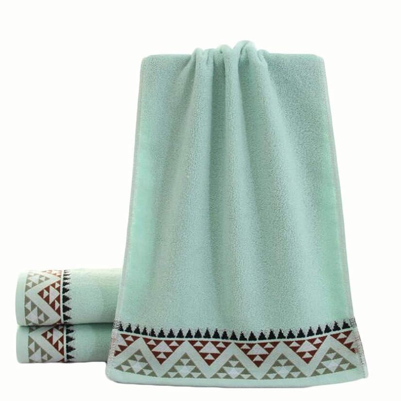 色スプレー特別にCXUNKK 2PCS / LOT家庭肥厚綿フェイスタオル大人カップル吸収性タオル (Color : Blue)