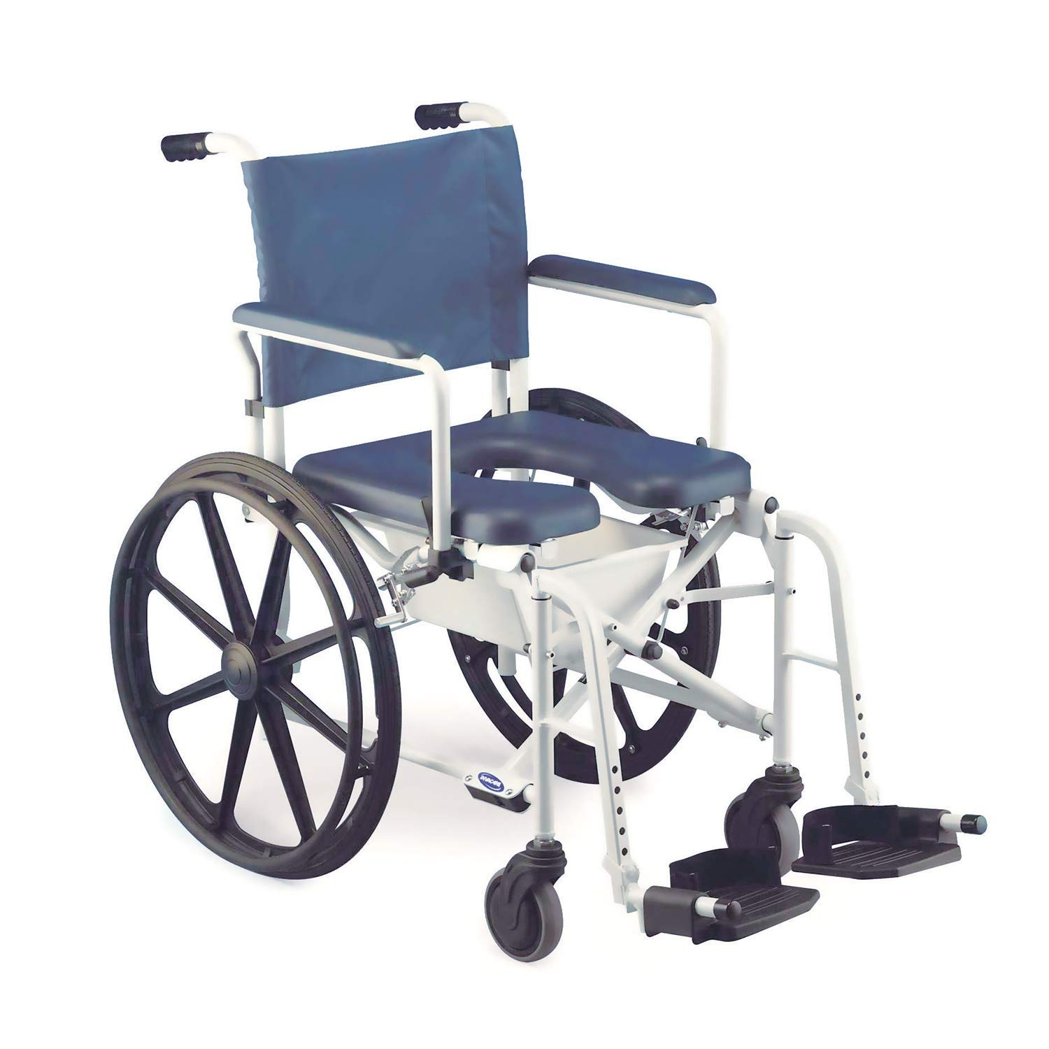 Invacare Mariner Rehab Shower Wheelchair with Commode Opening, 16'' Seat Width, 300 lb. Weight Capacity, 6795