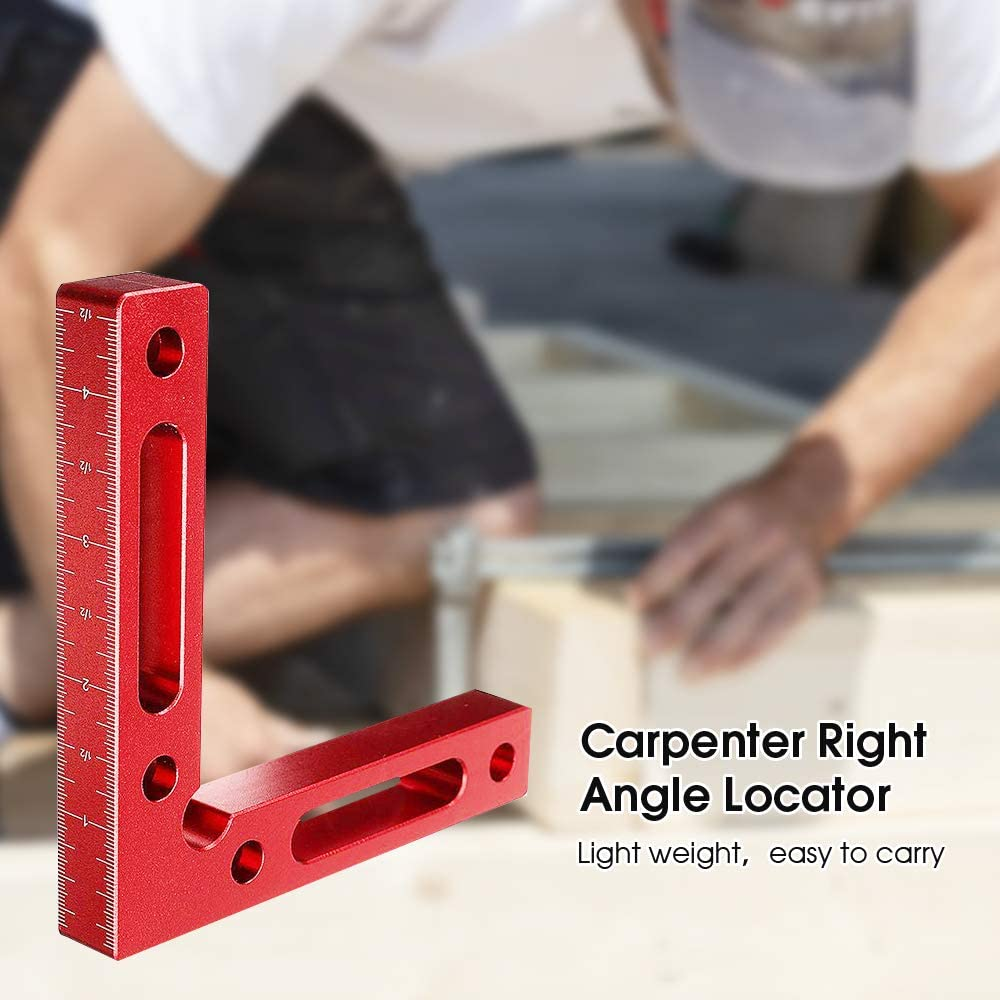 4.7 x 4.7 Corner Clamping Square for Picture Frames Squares Assemble Cabinets Drawers blue 90 Degree Positioning Squares Aluminium Alloy 2 pcs Right Angle Clamps Woodworking Carpenter Tool