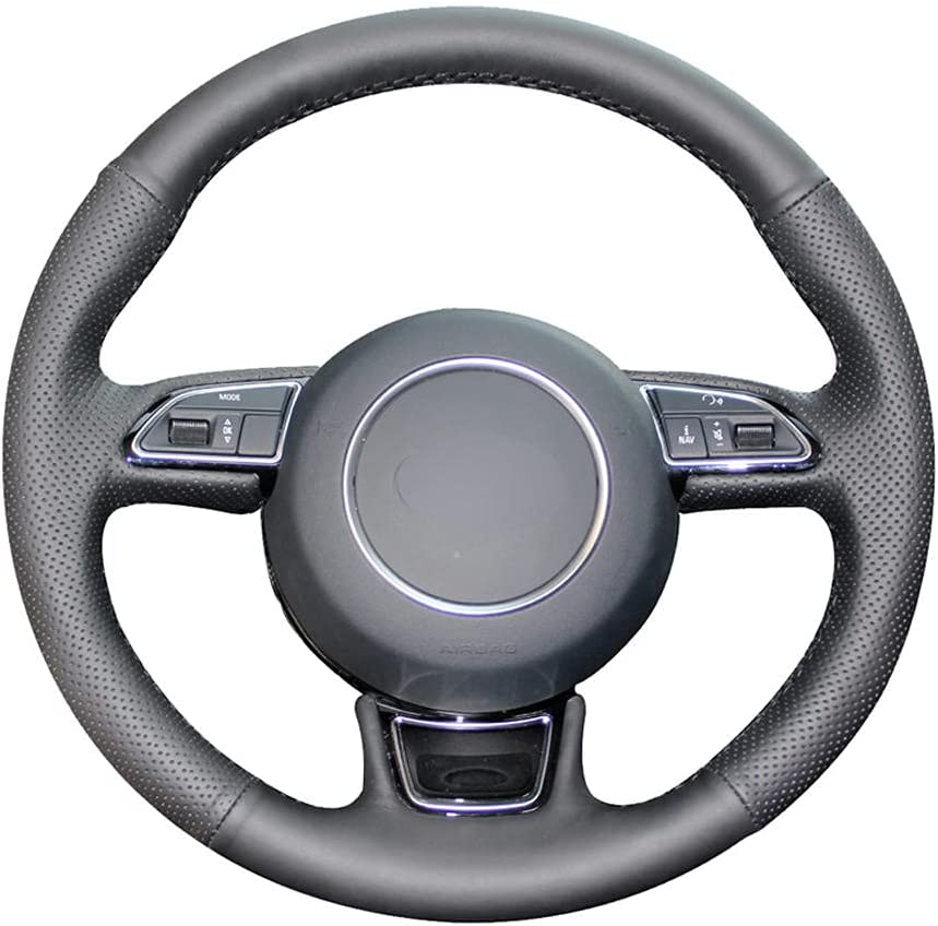 BAWAQAF Max 78% OFF Hand-Stitched Steering Wheel Gorgeous Cover Leather Whee