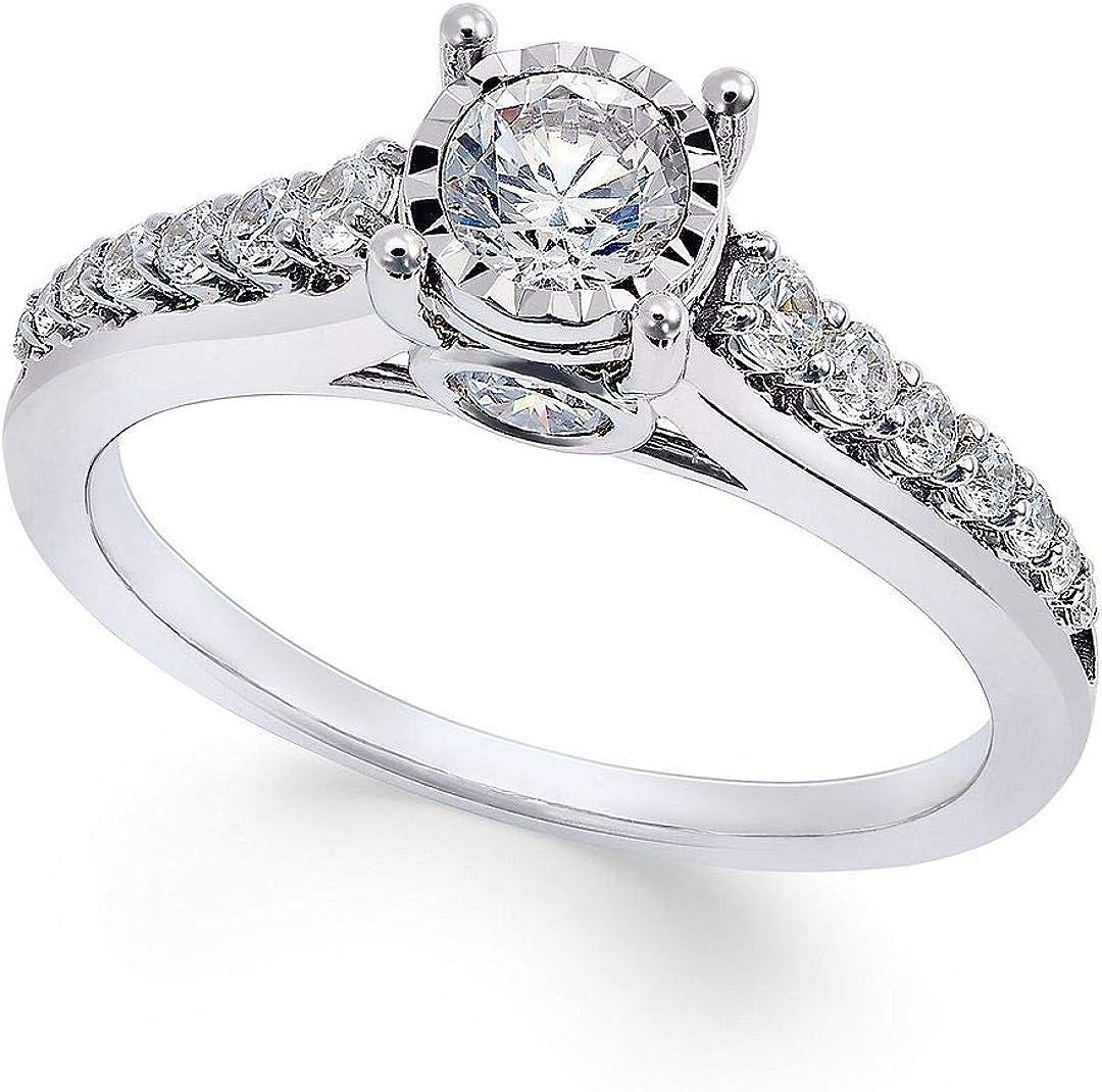 Triostar 1.25 Ct Round Cut Direct store Diamond Gold Solitaire Bargain sale Over White 14K