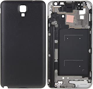 iPartsBuy Full Housing Cover Replacement(Front Housing LCD Frame Bezel Plate + Battery Back Cover Replacement) for Samsung Galaxy Note 3 Neo / N7505 (Black)