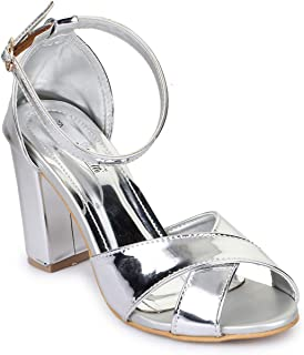Bruno Manetti Women Silver Synthetic Patent Sandals