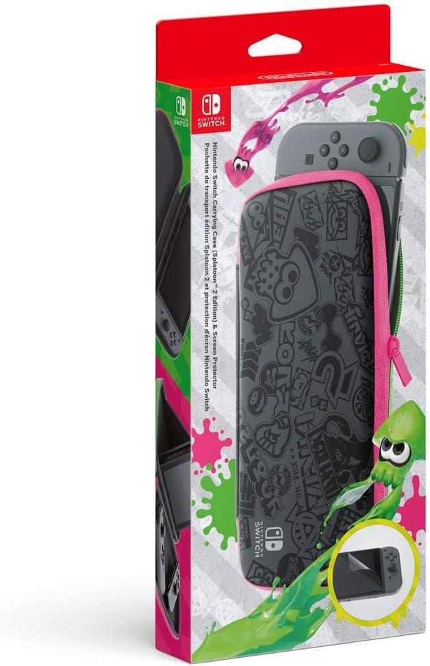 Nintendo Switch - Set Accesorios, Funda + Protector LCD (Edición Splatoon 2)