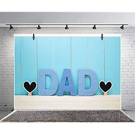 8x6.5ft Happy Fathers Day Backdrops for Photography Great Beard Teacup Gift Box Patel Blue Backgrouds Father Party Decoration Banner Dad Birthday Celebration Photobooth Props