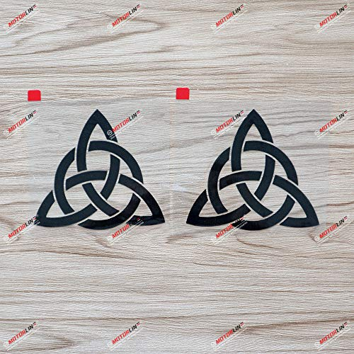 2X Black 4'' Celtic Trinity Knot Symbol Decal Sticker Car Vinyl