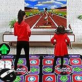XYW Alfombra de Baile Doble para niños y Adultos Canciones Y Juegos 3D Máquina De Juego Somatosensorial Casa Educación Modo De Anime HD Alfombra,PVC LED Iluminado Manta de Masaje