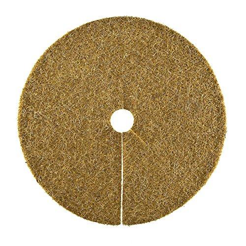HaGa® - Couvercle de bac à disques en coco Protection hivernale pour plantes en pot - Diamètre 45 cm