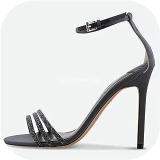 Surprise S Summer Sandals Women Stiletto Heels High Sandals Woman Party Ankle Strap Shoes Ladies