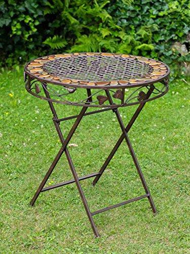 aubaho Table DE Jardin DE Fer Antique Style MOBILIER DE Jardin