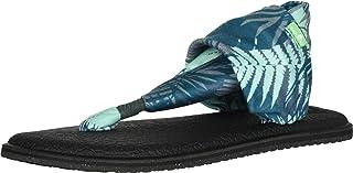 صندل حريمي من Sanuk مطبوع عليه Yoga Sling 2، نخيل أخضر، 7 M US