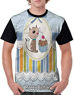 Casual Short Sleeve Graphic Tee Shirts,Warm Tones Tribal Fashion Personality Customization