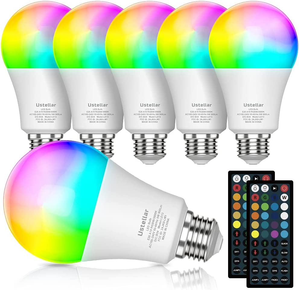 RGB LED Easy-to-use Light Bulb with Color Changing Louisville-Jefferson County Mall Remote 900LM