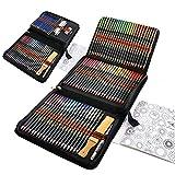 96 Lapices Acuarelables con Lapices de Dibujo Profesionales, Set de Lápices Colores para Colorear, Dibujar y Sombrear, Ideal para Artistas, Adultos y Niños