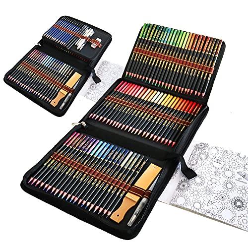 96 Lapices Acuarelables con Lapices de Dibujo Profesionales, Set de Lápices Colores para Colorear, Dibujar y Sombrear, Ideal para Artistas y Adultos