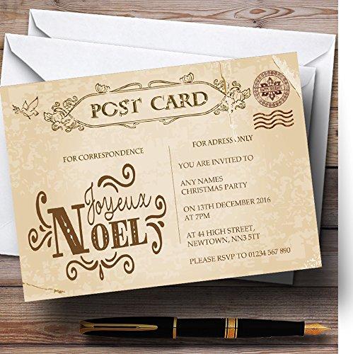 Rustieke Vintage ansichtkaart Noel Gepersonaliseerde Kerst/Nieuwjaar/Vakantie Deel.