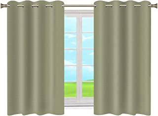 Room Darkening Blackout Curtains Thermal Insulated Grommet Top Blackout Drapes Curtain Panels for Bedroom (2 Panels, 52x63...