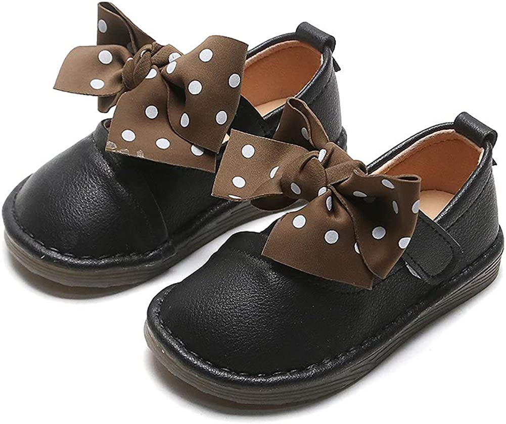 N/P Joeupin Toddler Girls Ballet Flats Bowknot Ballerina Mary Janes Wedding Party Princess Dress Shoes