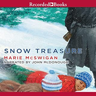 Snow Treasure audiobook cover art