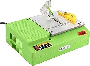 GUOZ Mini Sierra Circular de Mesa, 8800 RPM, 480 W, 220 V Cortadora para carpintería con encimera Trabajo de Madera DIY Modelo máquina de Corte