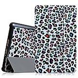 Fintie Hülle Hülle für Samsung Galaxy Tab S 8.4 - Ultra Schlank superleicht Ständer SlimShell Cover Schutzhülle Etui Tasche mit Auto Schlaf/Wach Funktion, Leopard Regenbogen