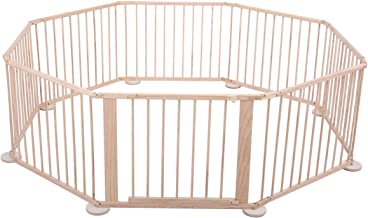 Tobbi New Wooden Baby 8 Panel Playpen Safety Activity Centre Safety Play Yard Home Indoor Outdoor New Pen