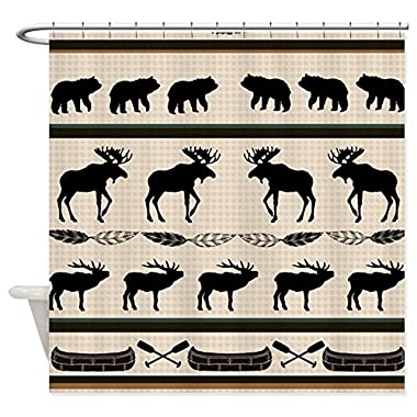 CafePress - Mountain Cabin Blanket Design - Decorative Fabric Shower Curtain (69 x70 )