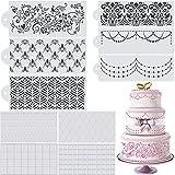 10 Pieces Wedding Cake Stencil Cake Decorating Templates Wedding Cake Decorative Flower Edge Molding Baking Tool for Cupcake Wedding Cake Decoration Supplies