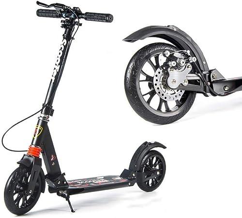 ASCOORTEN Scooter Plegable para Adultos Scooter de Dos Ruedas Plegable Doble absorción de Choque Aleación de Aluminio Regalo de cumpleaños Niño Adolescente Adulto