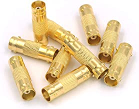 VCE 10-Pack Gold Plated BNC Female to Female Connector CCTV Security Camera Adapter