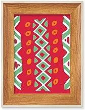 Totems vermelhos do México Ancient Civilization Desktop, moldura de madeira para fotos, exibição de imagem, pintura artíst...