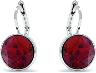 Women's Bella Mini Drop Earrings with Round Crystals from Swarovski