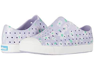 Native Kids Shoes Jefferson Print (Little Kid) (Powder Purple/Shell White/Daisy) Girls Shoes