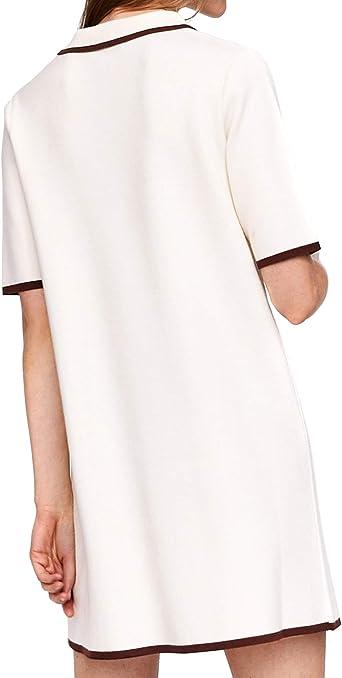 Zara - Polo - Manga Corta - para mujer Marfil blanco crema ...